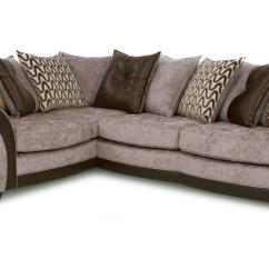 Dfs Metro Sofa Bed Modern Grey Set Theo Chocolate Fabric Right Hand Facing Delux