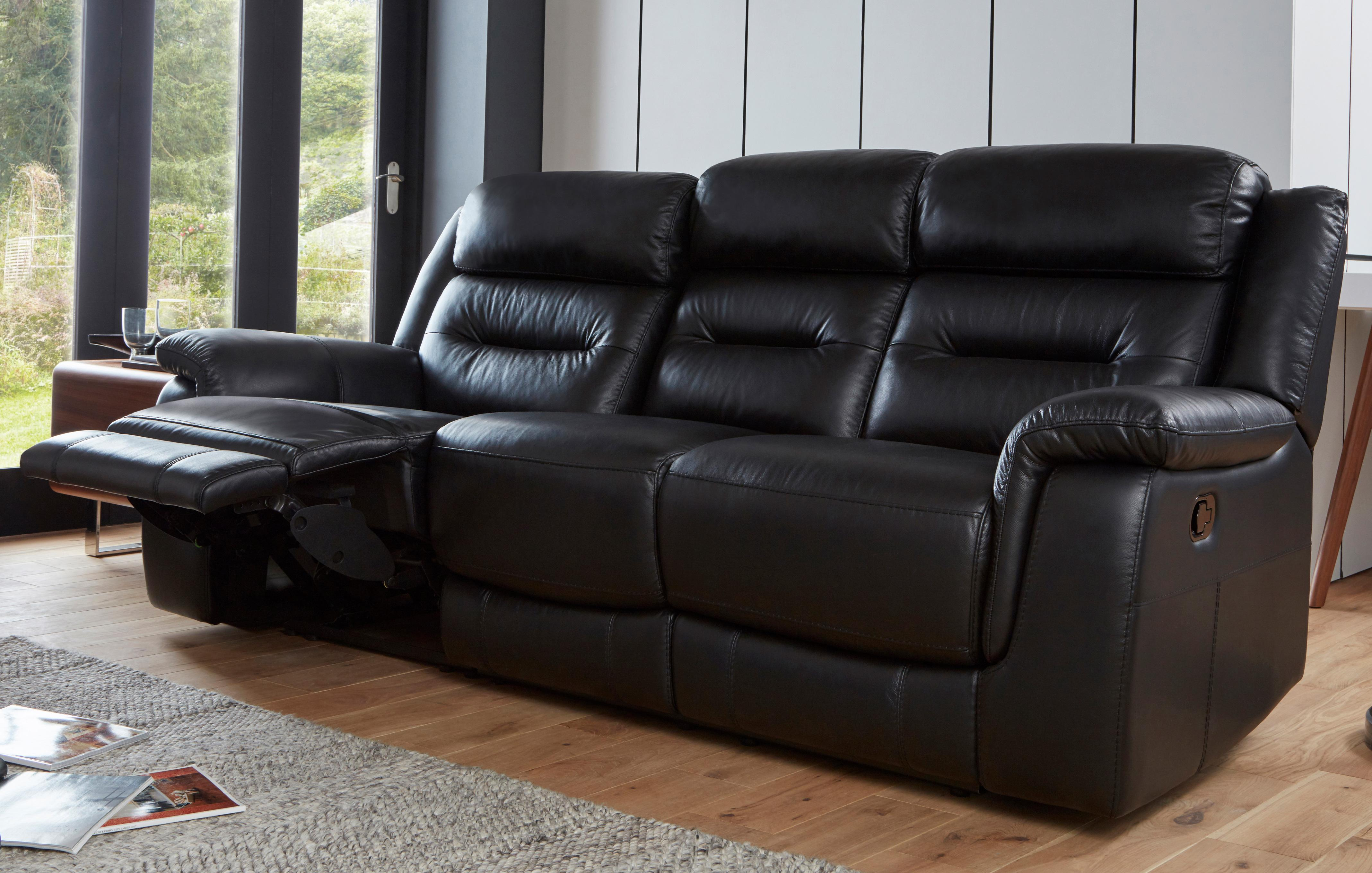 all leather sofa bed end table sofas dfs spain tinsley 3 seater manual recliner premium