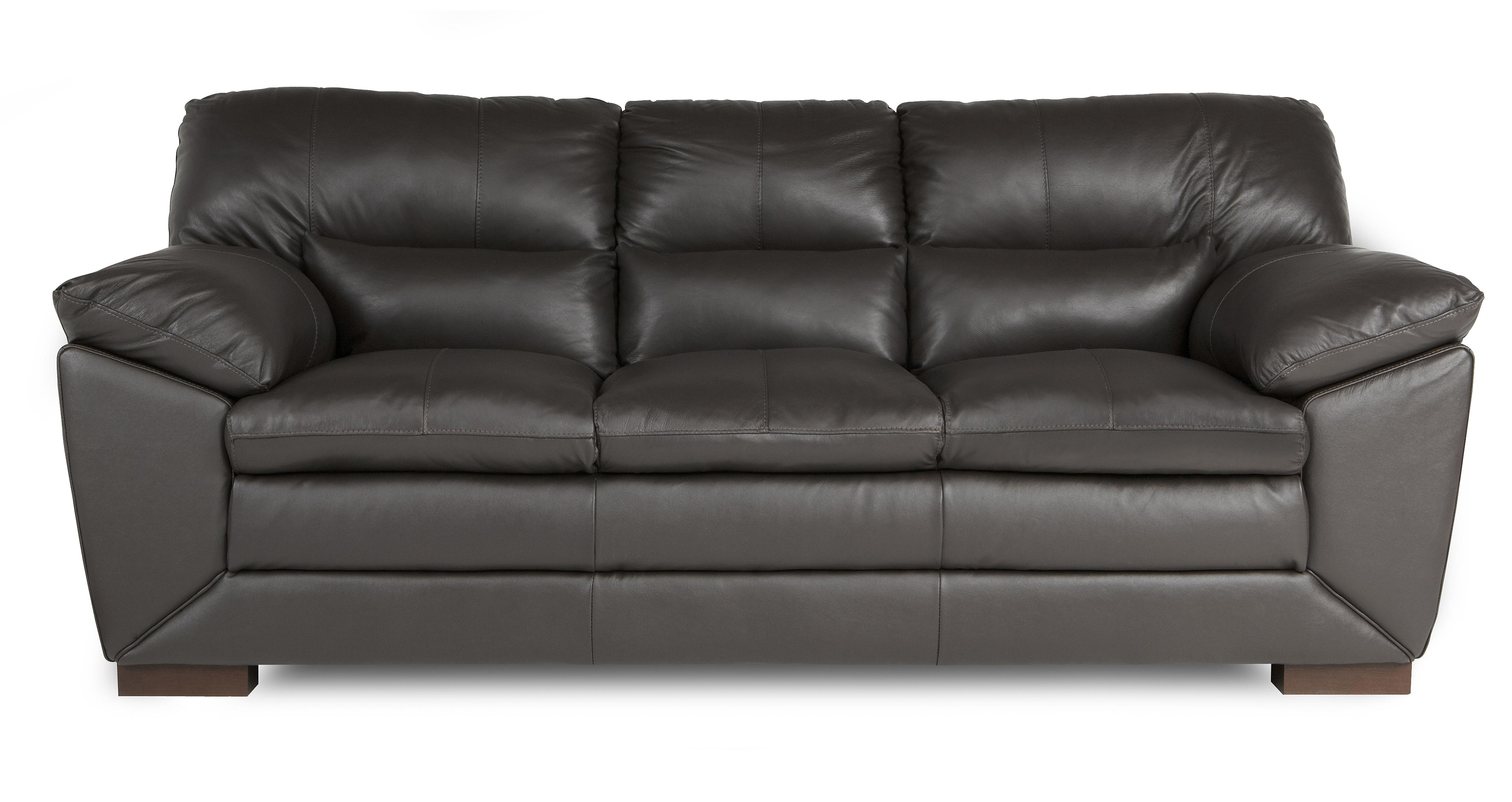 leather sofa brown dfs bed covers walmart valiant mocha 3 seater ebay