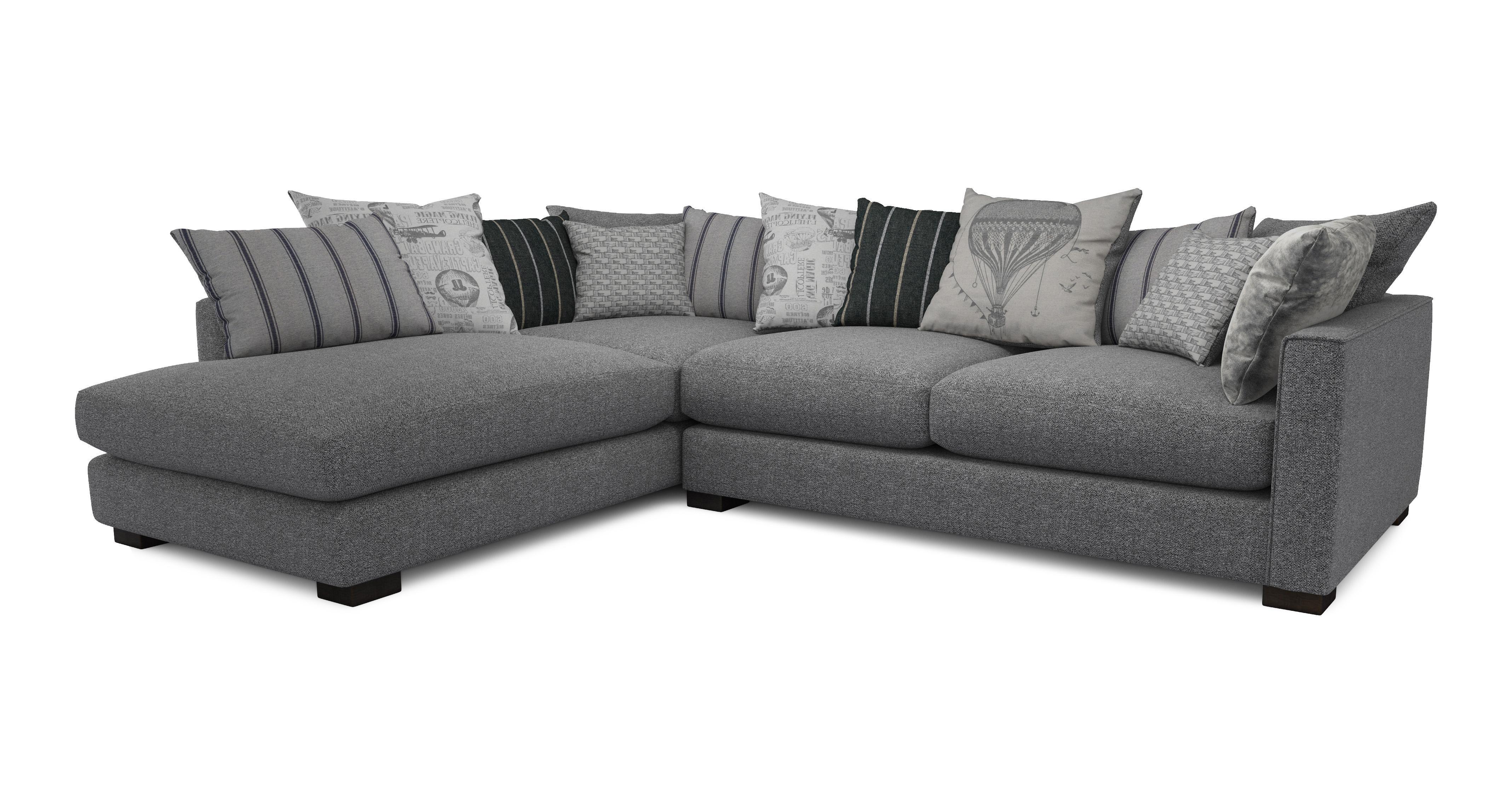 dfs corner sofa grey fabric modern white leather textile queen sleeper k43 2 and armchair zuma range 3