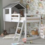 White Midsleeper Cabin Bunk Bed Dreams