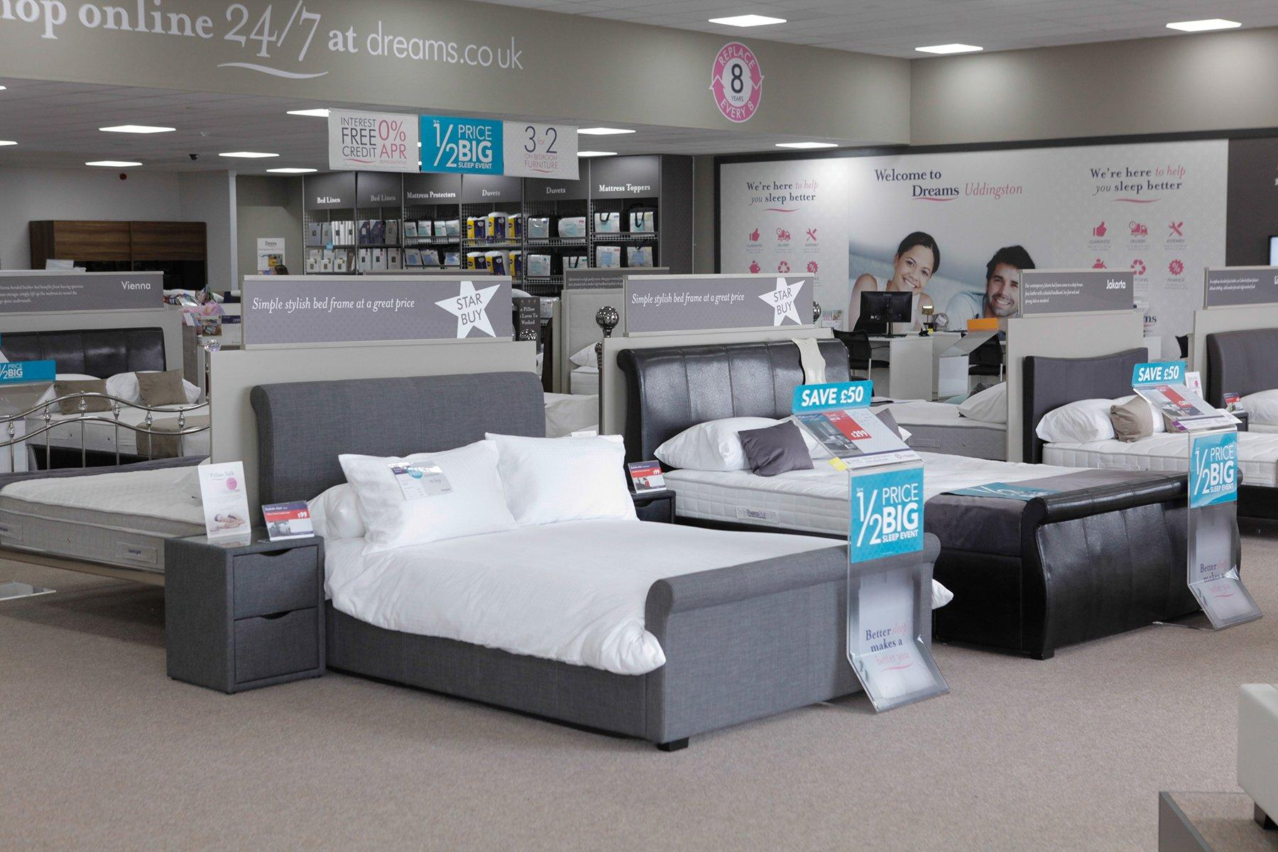 dream sofas wishaw best sofa sleepers 2017 dreams store in glasgow uddingston beds mattresses furniture