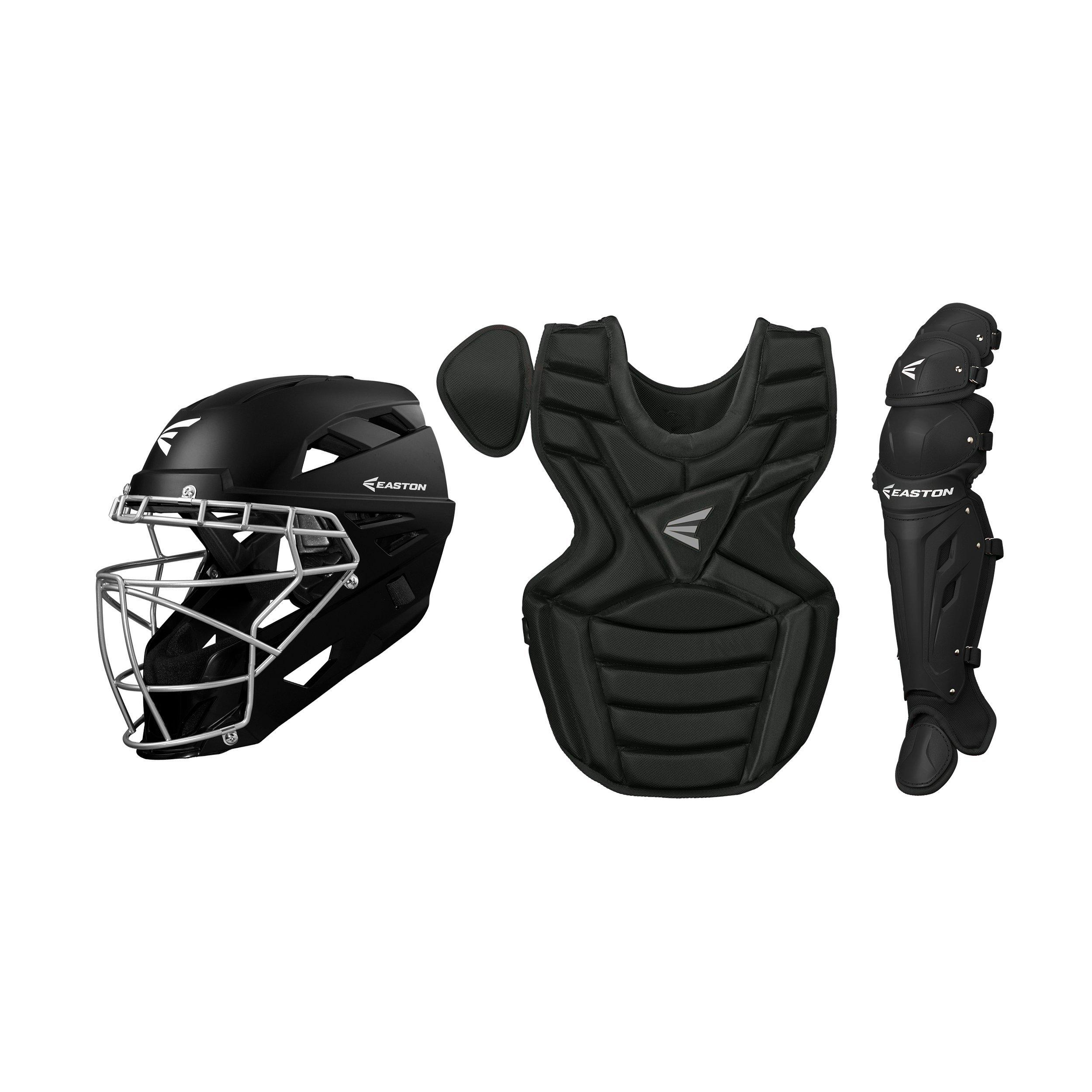 catcher int box set bkblackmedium also baseball   gear get outfitted with protective easton rh