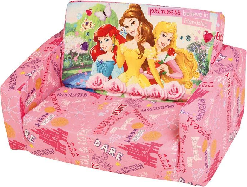 disney princess flip out sofa with slumber bag aries dual power reclining reviews princesa sofa. open bed ...