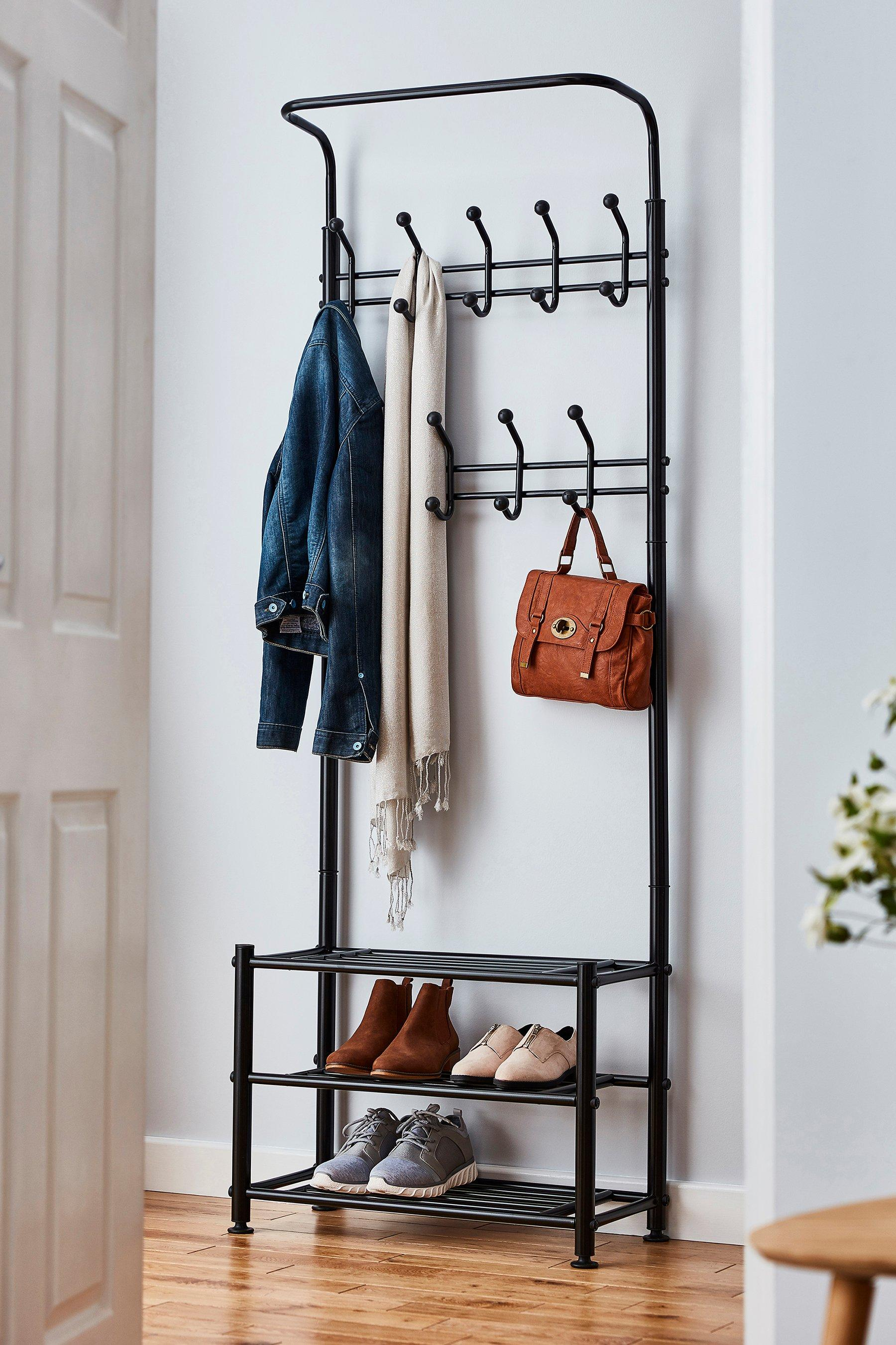 multi purpose coat stand with shoe rack