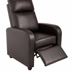 Faux Leather Recliner Chair Z Line Executive 2 Pushback Black Brown With