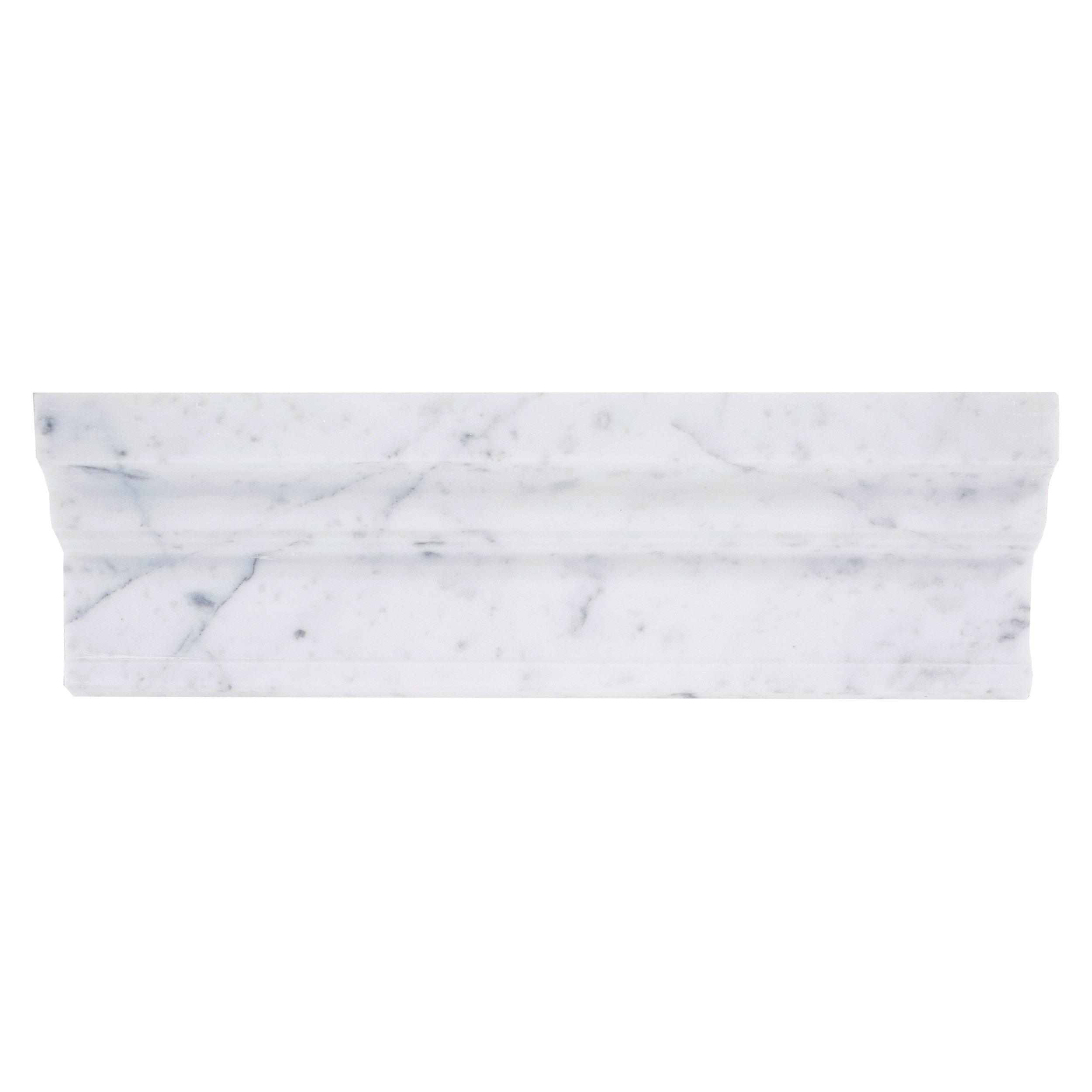 Carrara Collection Bianco Carrara Hexagon Polished Marble