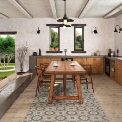 Wood Tile Floor Kitchen Cherry Cabinets Gallery Decor 13 Atlantic Matte Ceramic Mango Farmhouse Room