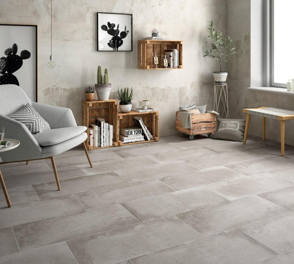 cement look tile for different styles