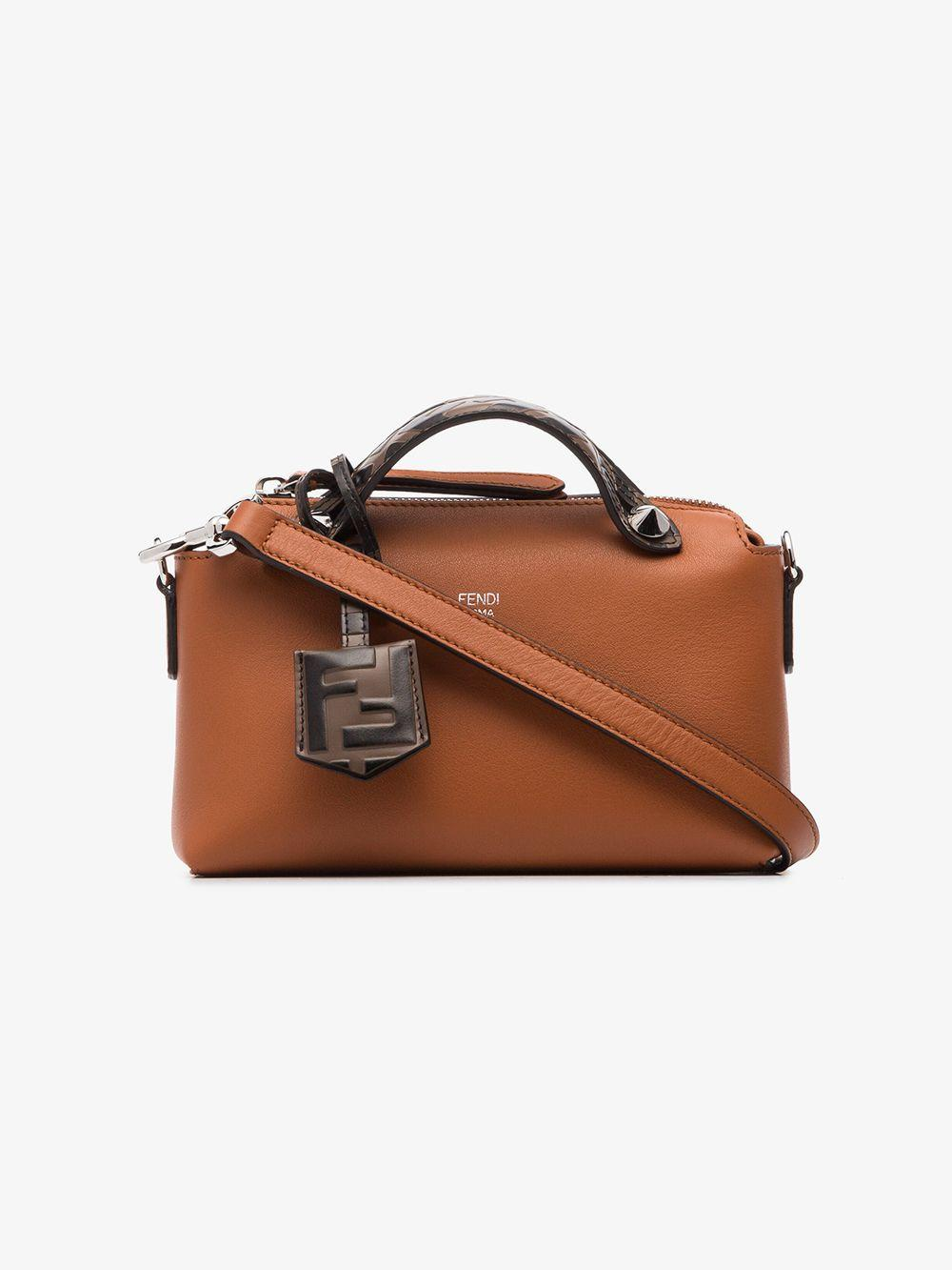 Fendi Brown By The Way mini leather bag at FORZIERI