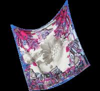 Christian Lacroix Grey Etno Print Silk Square Scarf at ...