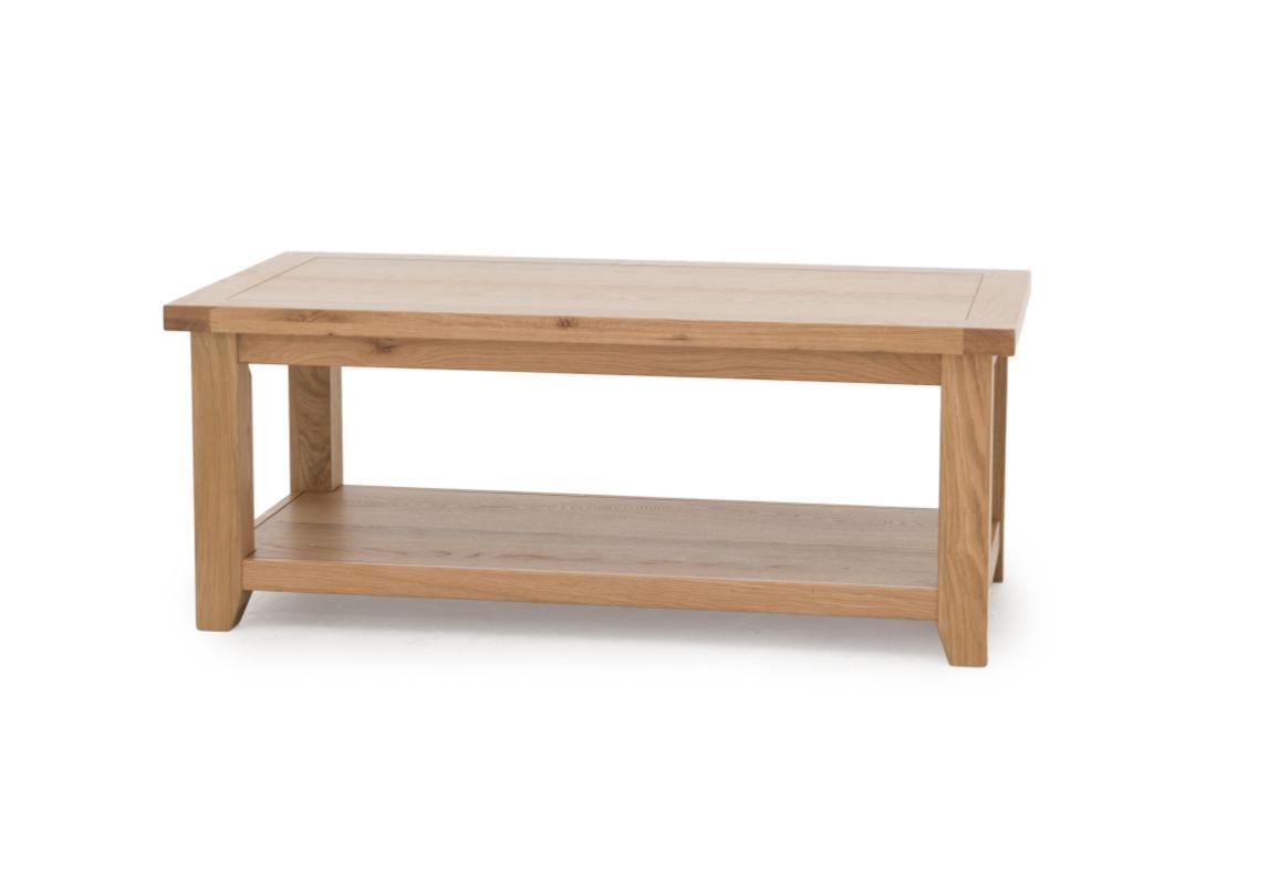 california solid oak coffee table