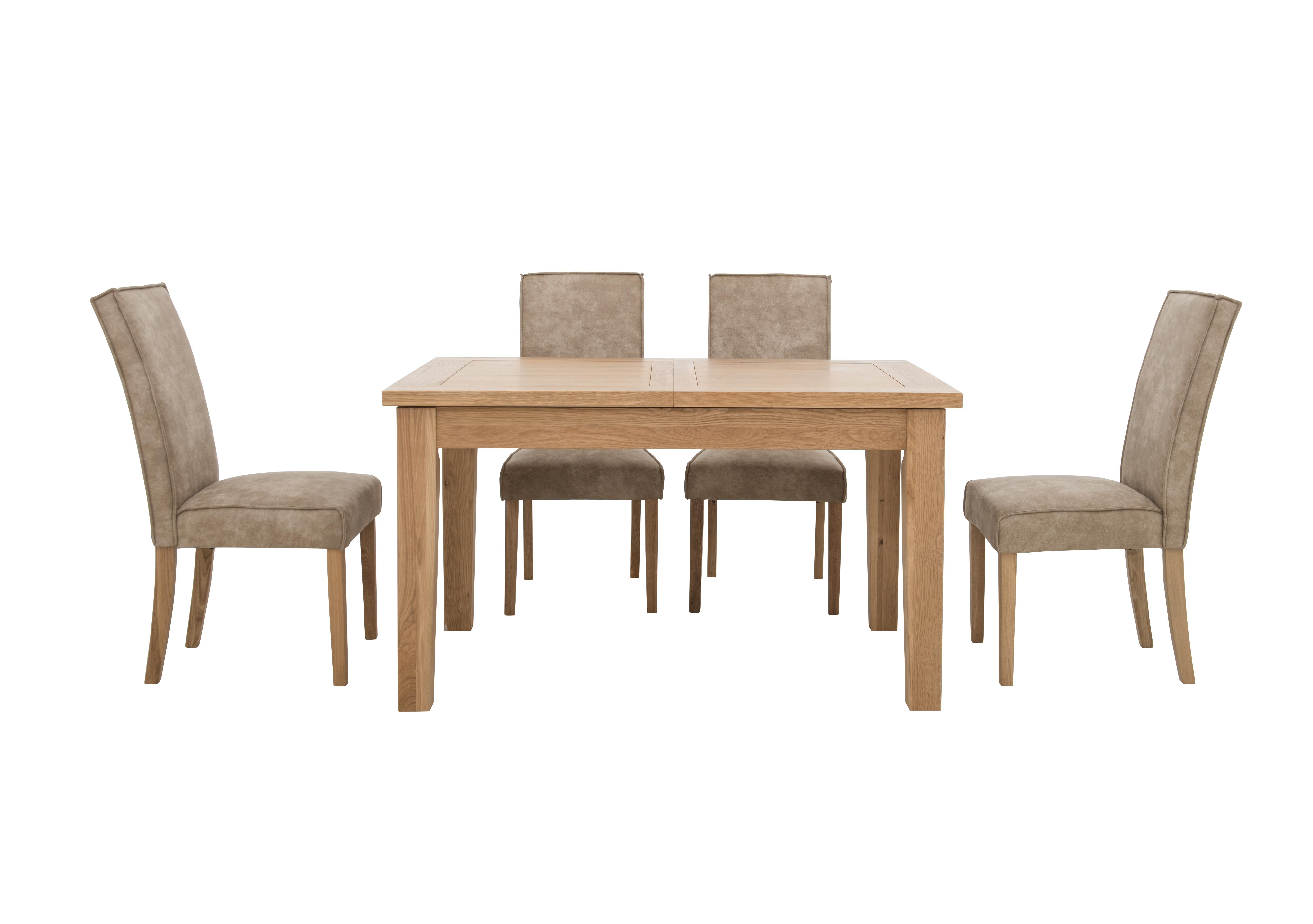 kitchen table chairs set exhaust fan installation california and 4 faux suede furniture village furnitureland extending rectangle dining