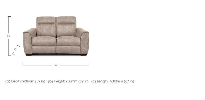 length of 2 seater sofa moroccan base paloma furniture village dimensions