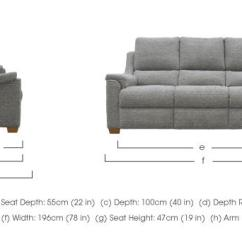 Sofa Seat Height 60cm Set Online Below 10000 Albany 3 Seater Fabric Recliner Parker Knoll Furniture Village Dimensions