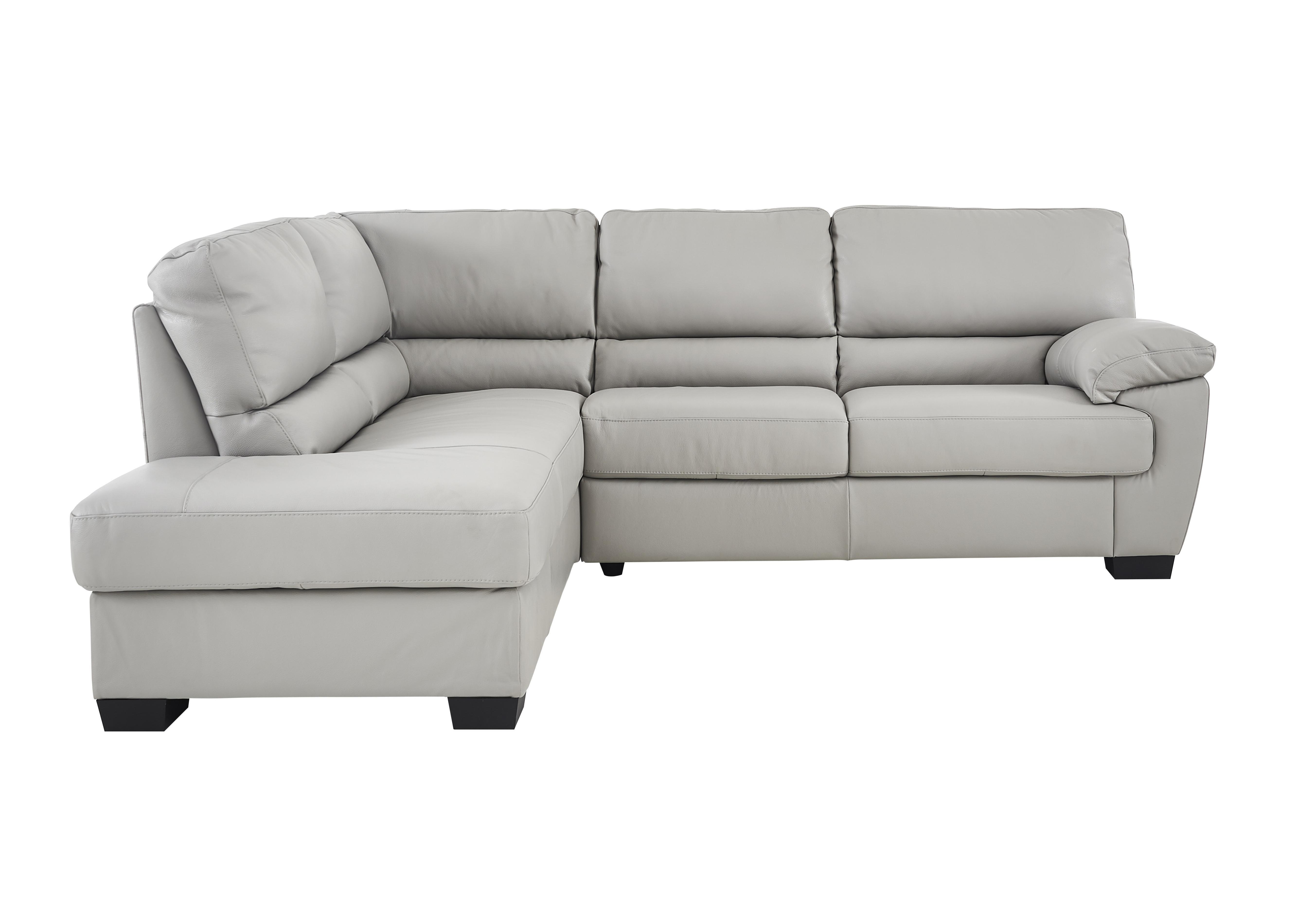 furniture village leather corner sofa bed dark green alvera