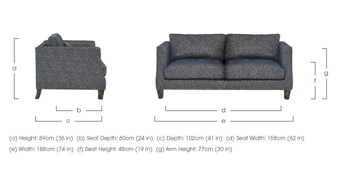 sofa seat height 60cm simplicity sofas comfortable genevieve 3 seater fabric furniture village dimensions