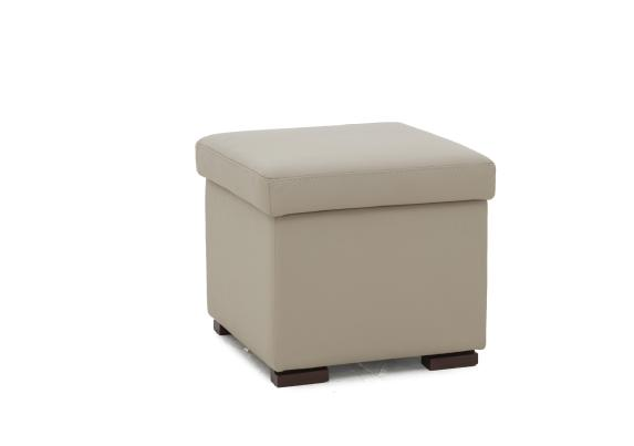 matera leather tray storage footstool