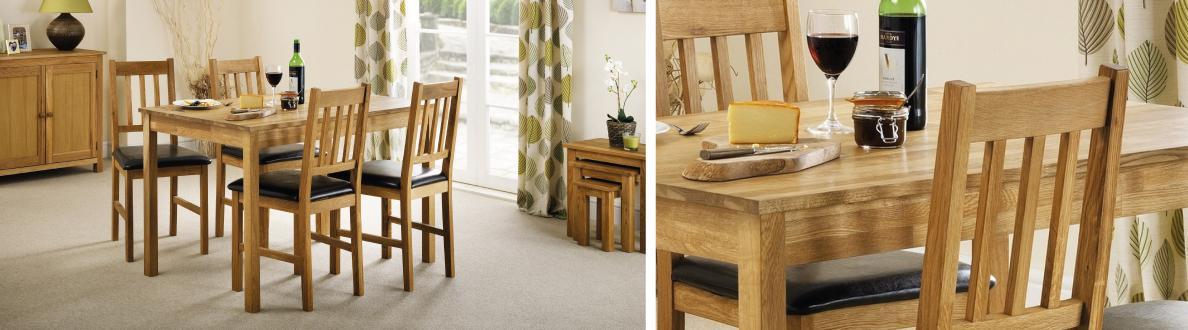 Larwood Oak Bench Furniture Village