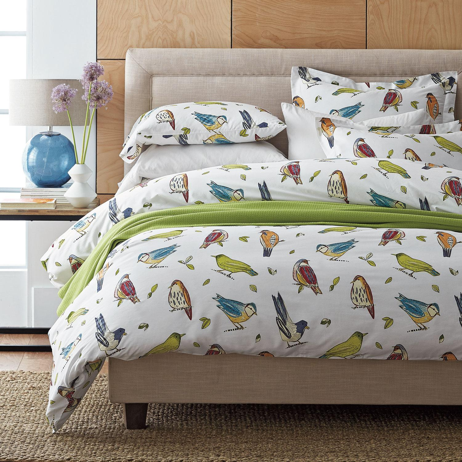 Spring Birds Percale Sheets  Bedding Set  The Company Store