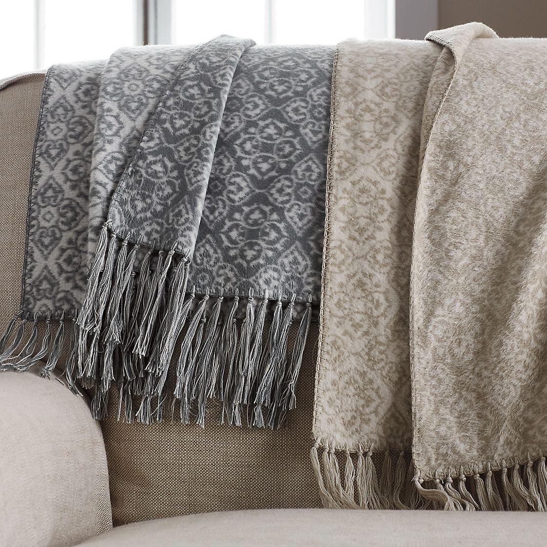 Silk Jacquard Throw Blanket  The Company Store