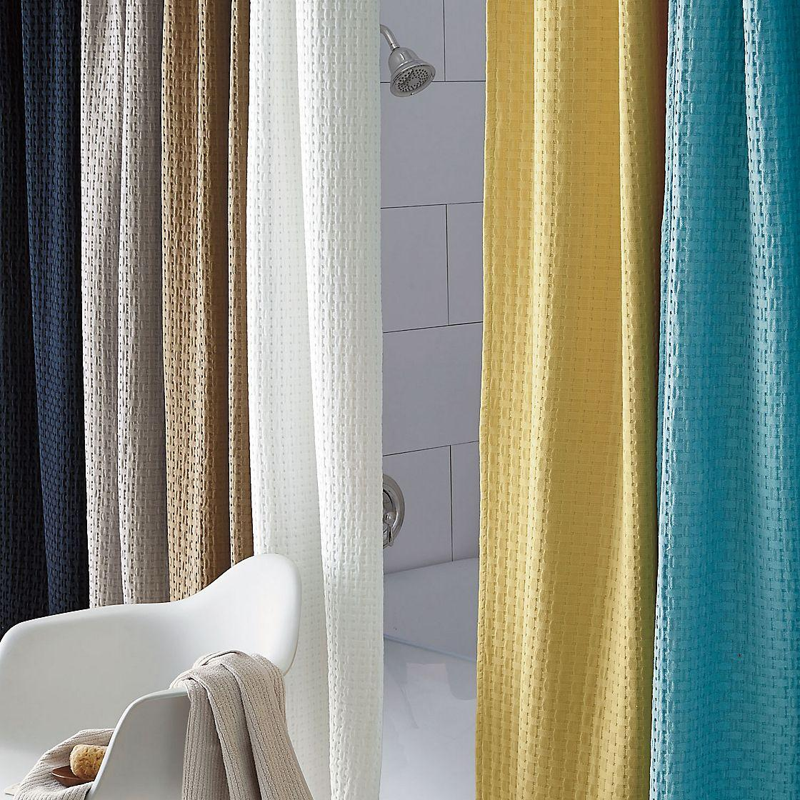 Basket Weave Cotton Shower Curtain The Company Store