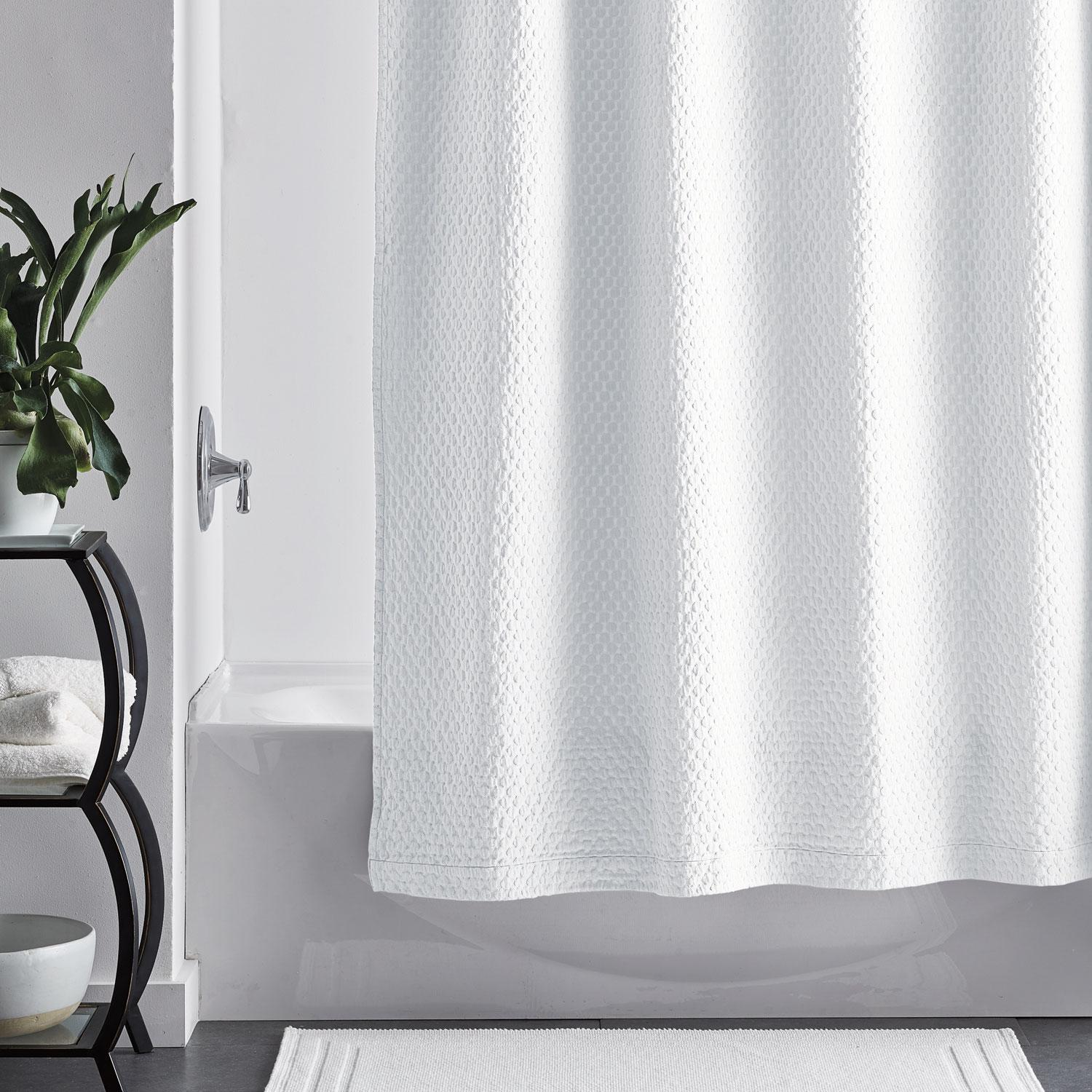 Seal Gray 72 In Shower Curtain Liner 100 Cotton Rippled