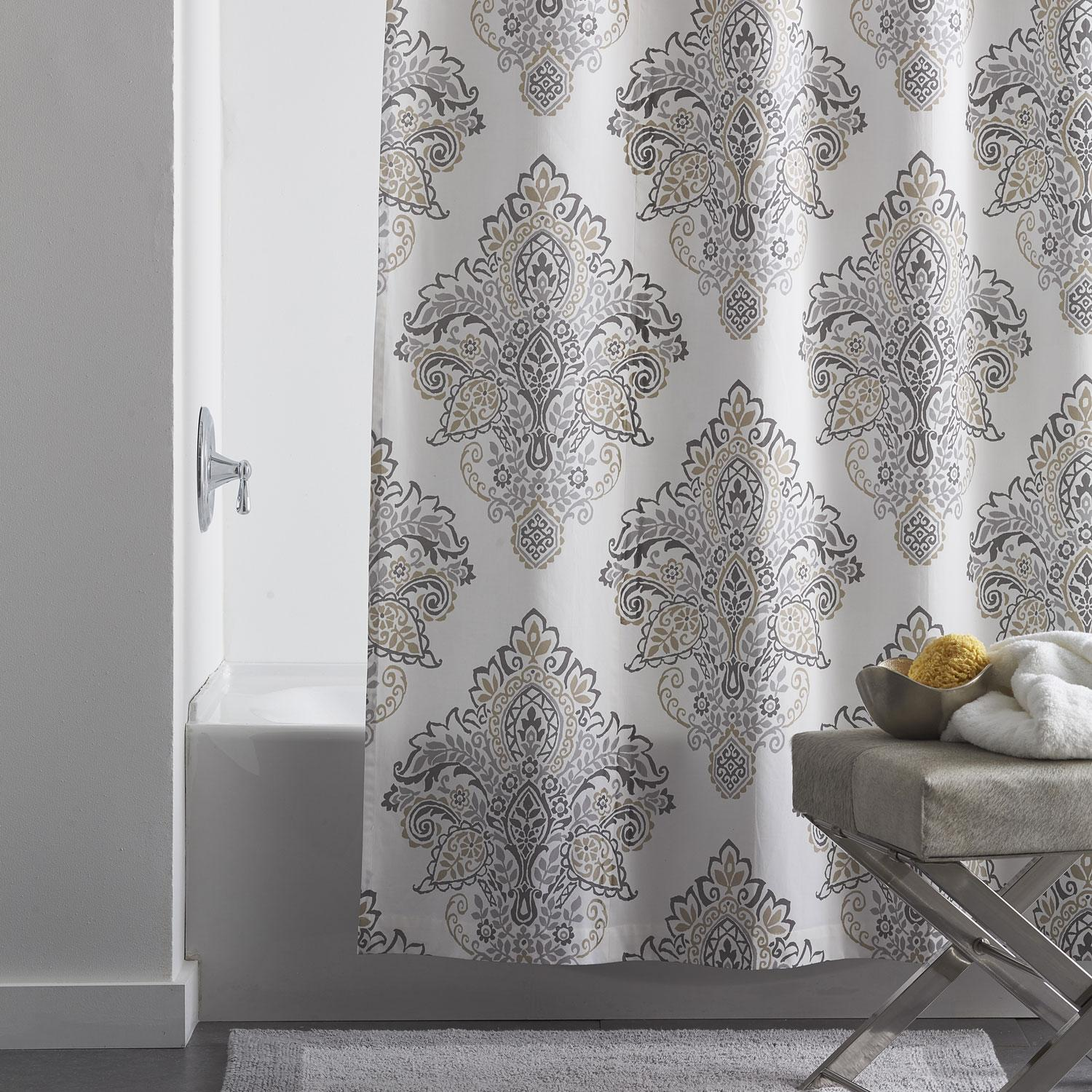 Medallion Cotton Shower Curtain  The Company Store