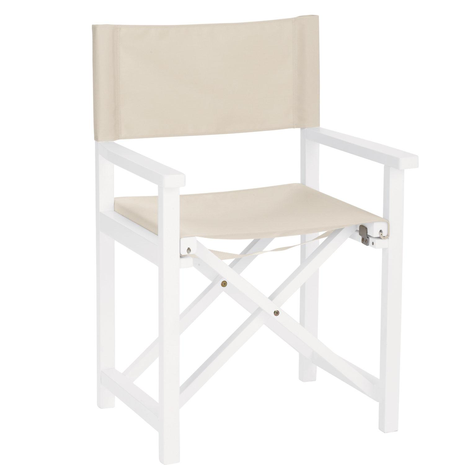 directors chair white orange metal dining chairs outdoor the company store director s