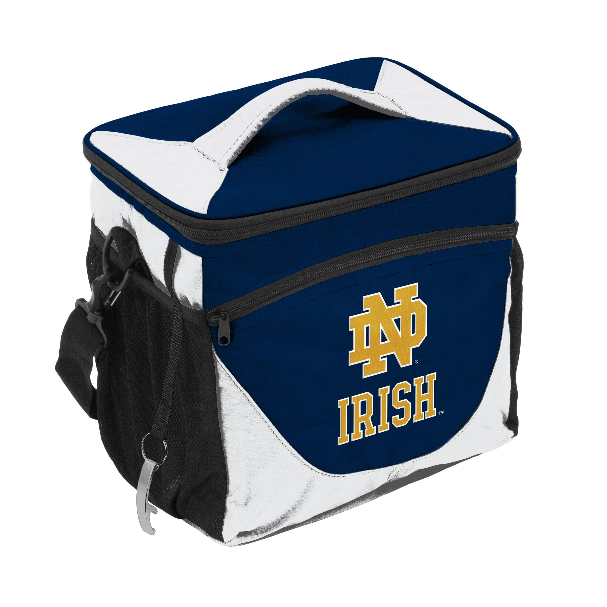 notre dame chair black and white covers for weddings logo company fighting irish navy can cooler main container image