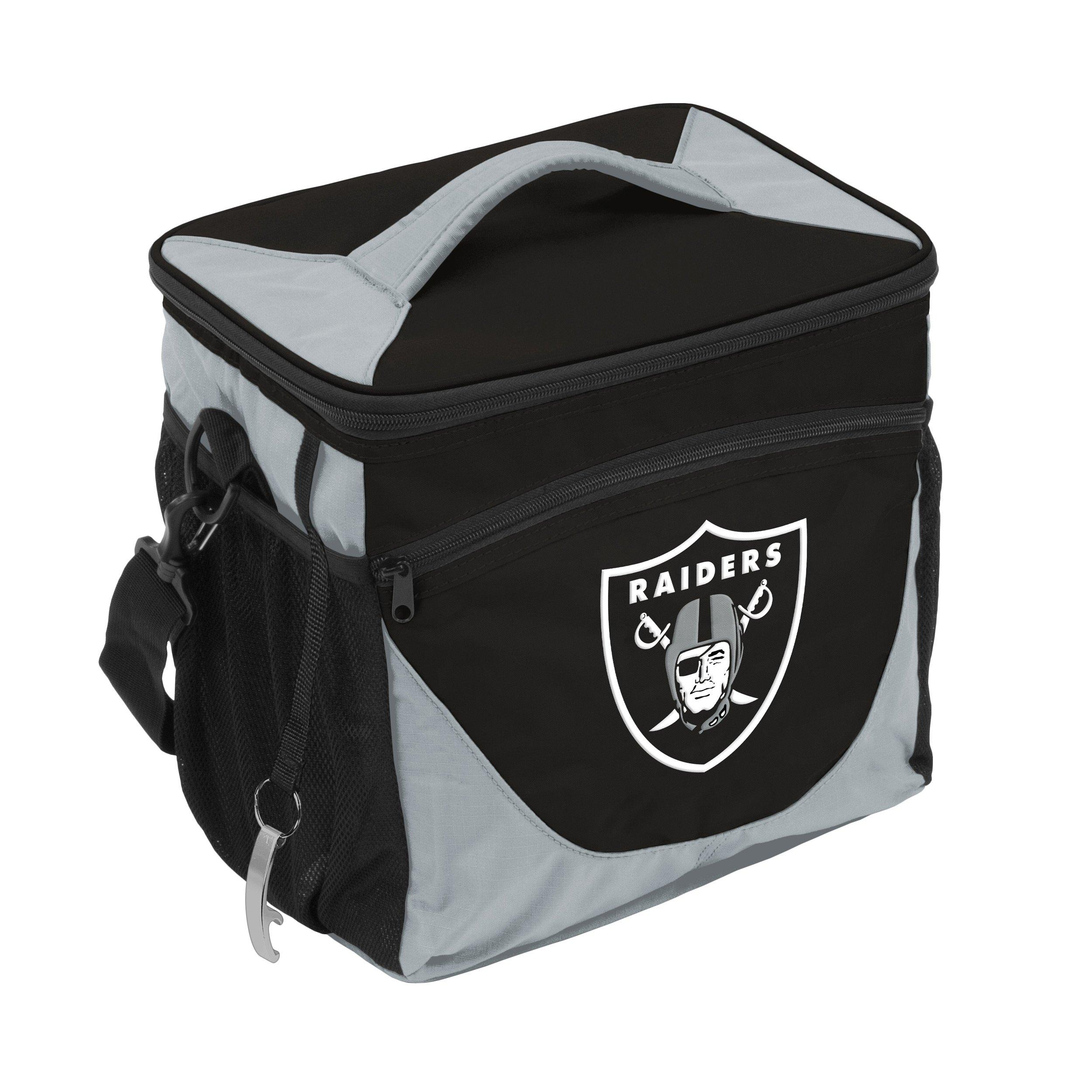 oakland raiders chair beach with leg rest logo company can cooler hibbett us main container image 1