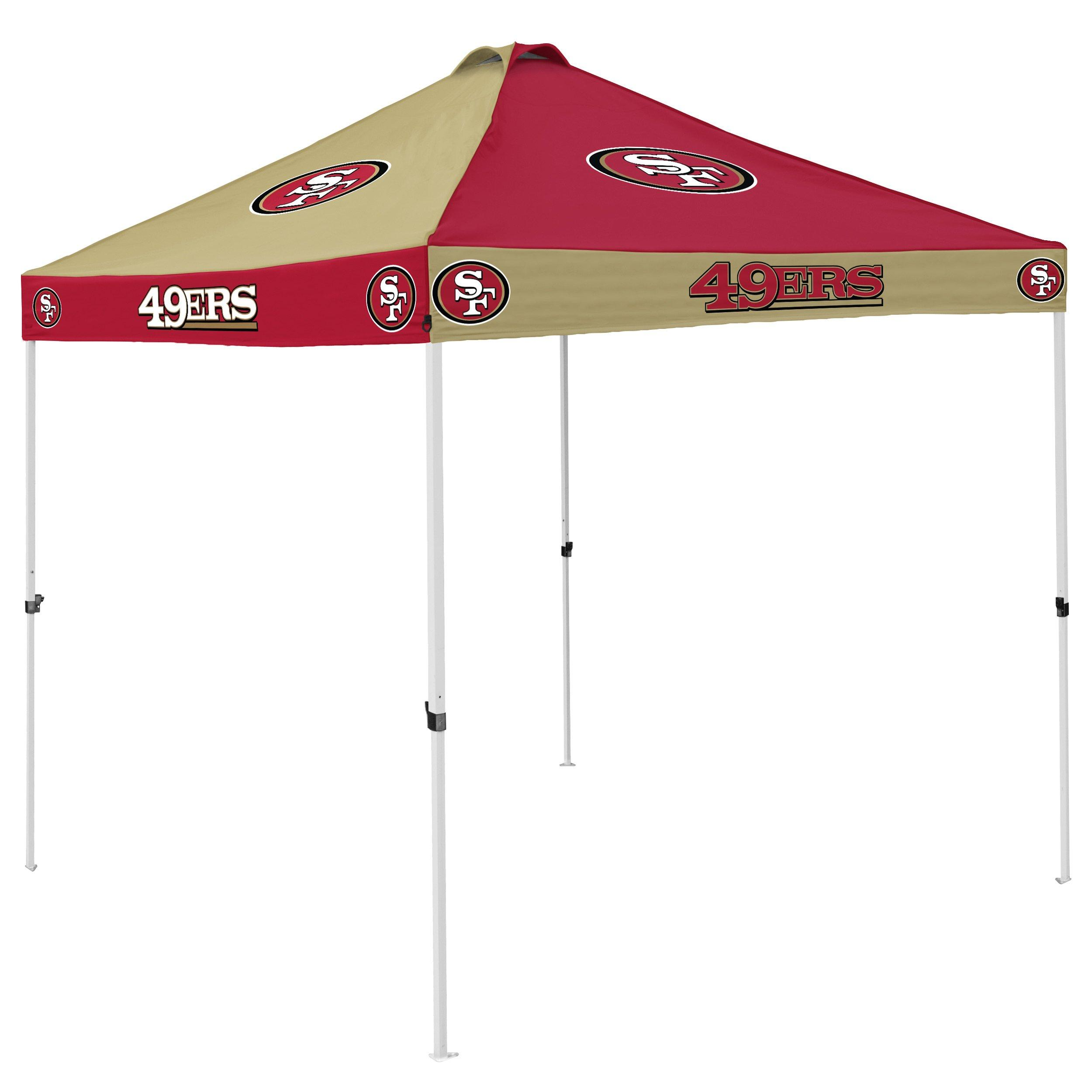 49ers camping chair tree stand swivel logo company san francisco checkerboard canopy tent main container image 1