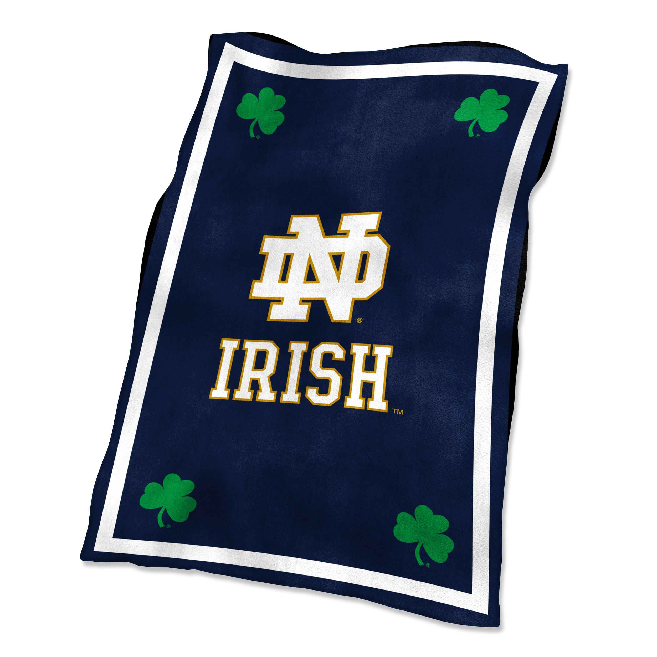 notre dame chair wedding covers peterborough logo company fighting irish ultrasoft blanket main container image 1