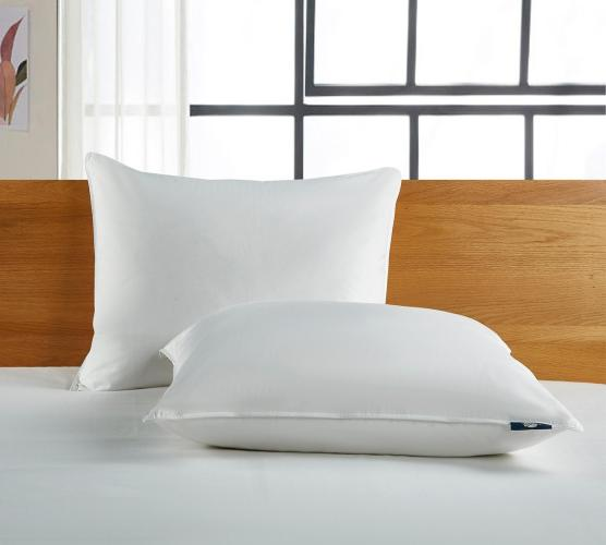 perfect sleeper goose feather and down fiber pillow for back sleepers 2 pack
