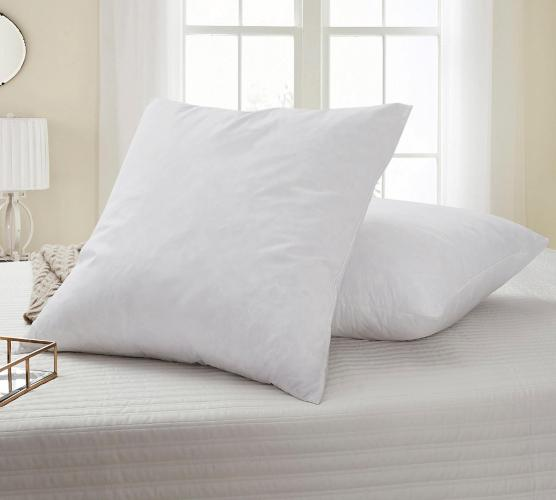 perfect sleeper euro square waterfowl feather pillow 2 pack