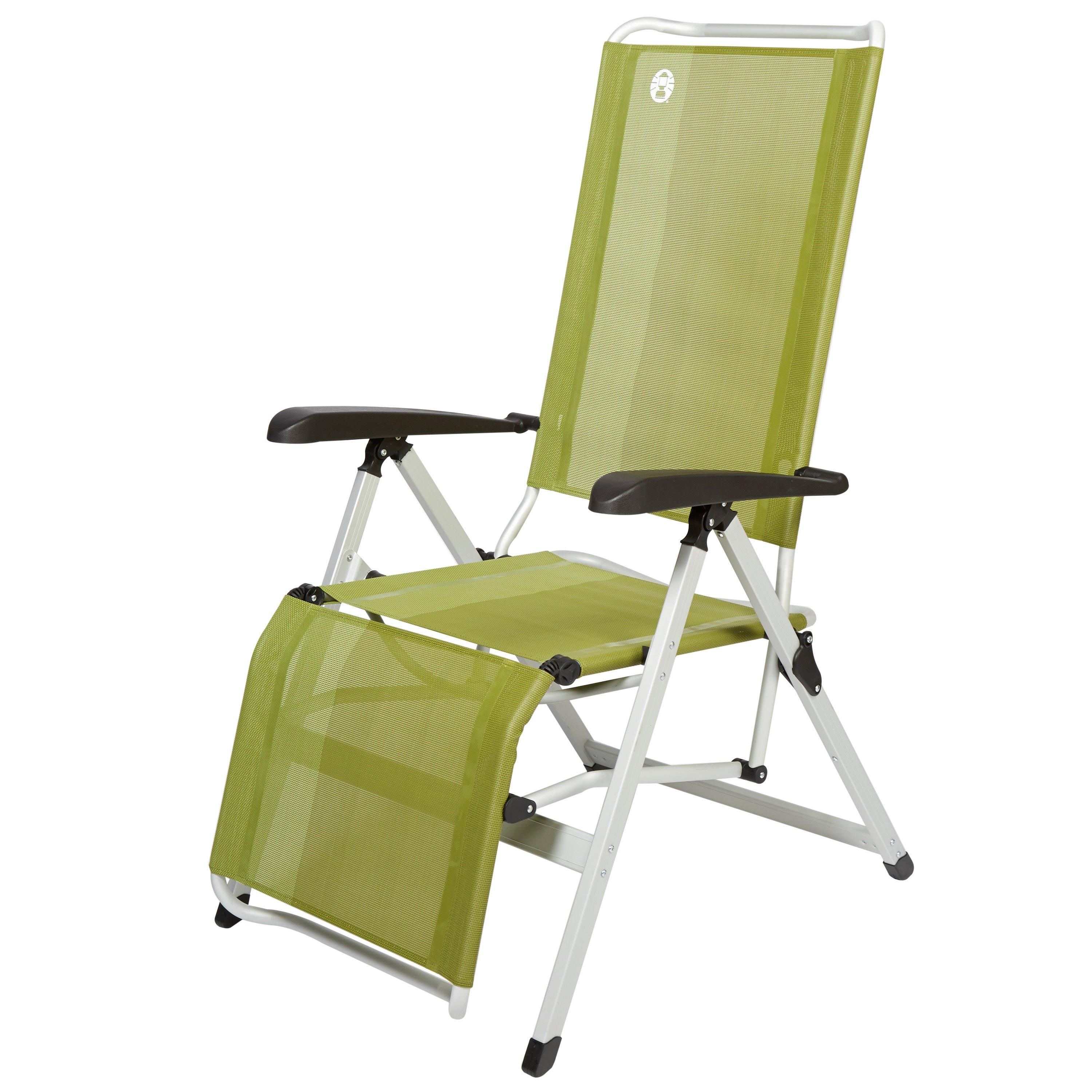 bag chair with footrest costco baby coleman recliner foot rest green ebay