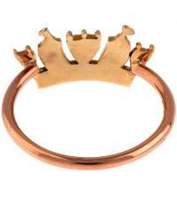 Rose Gold Crown Ring   Liberty London