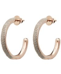 Rose Gold-Plated Fiji Large Diamond Hoop Earrings ...