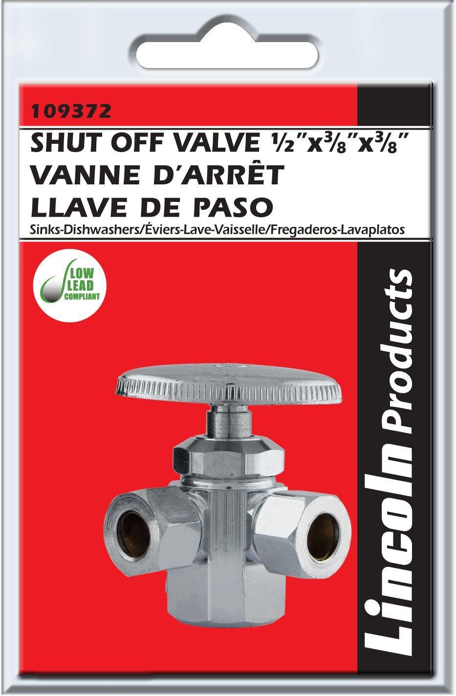 3 way angle stop valve 3 8 od