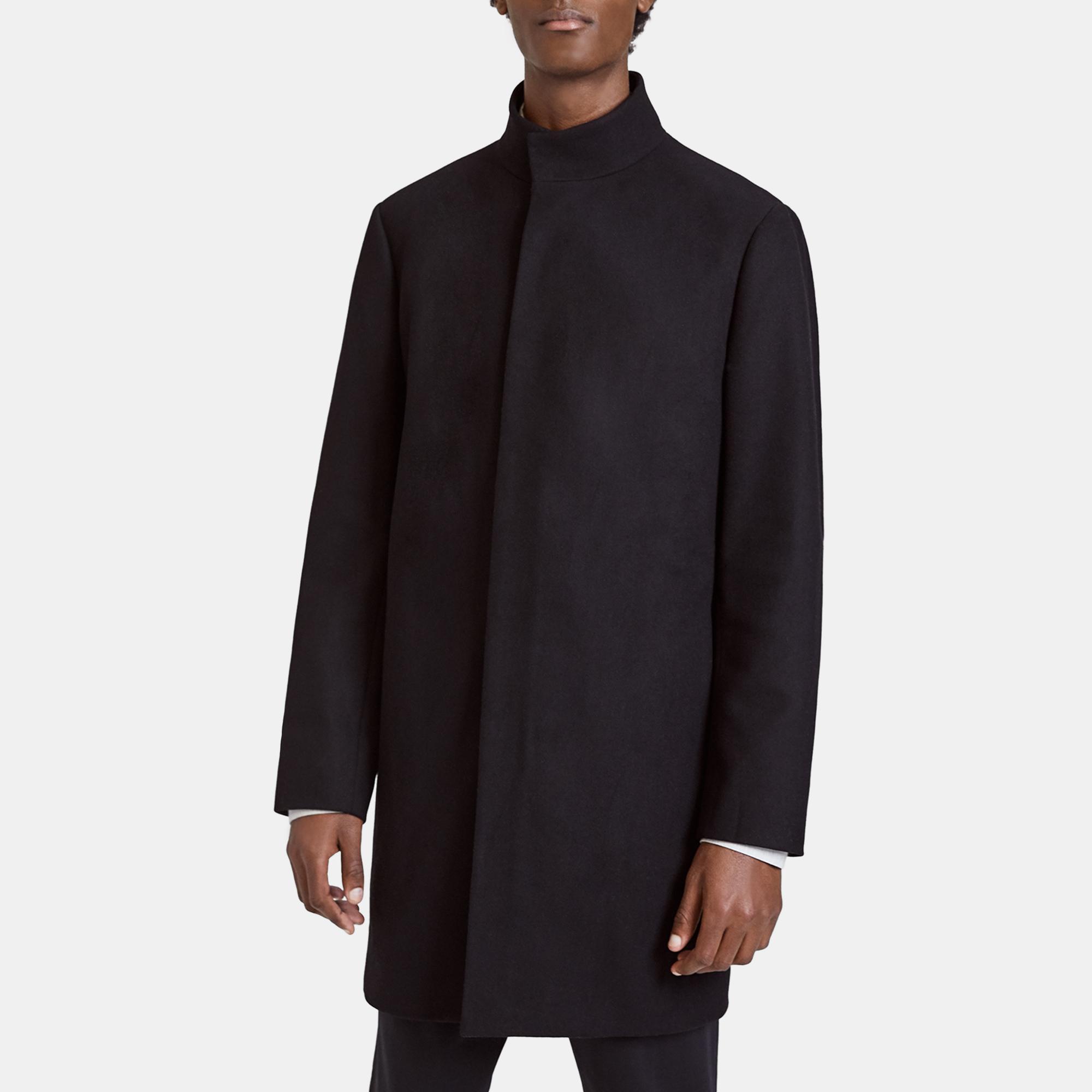 Stretch Melton Belvin Coat Theory