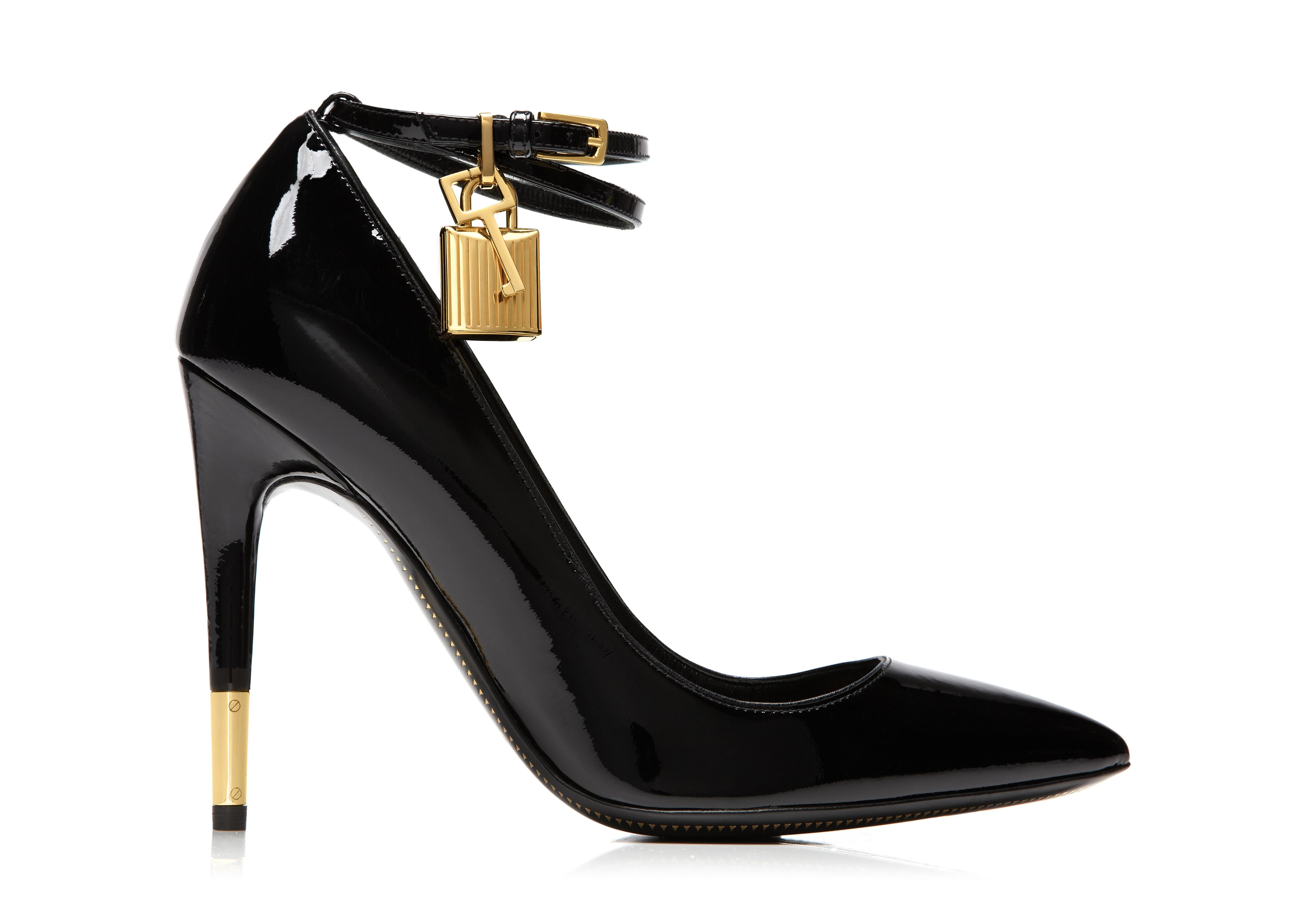 2 Stores In Stock Tom Ford Leather Pump With Ankle Strap And Lock Klack Modesens