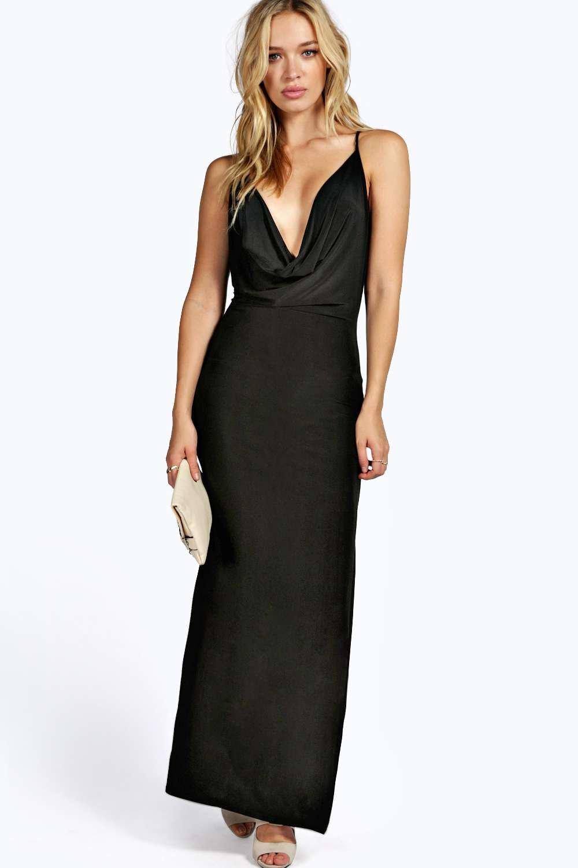 Low Cowl Neck Dress
