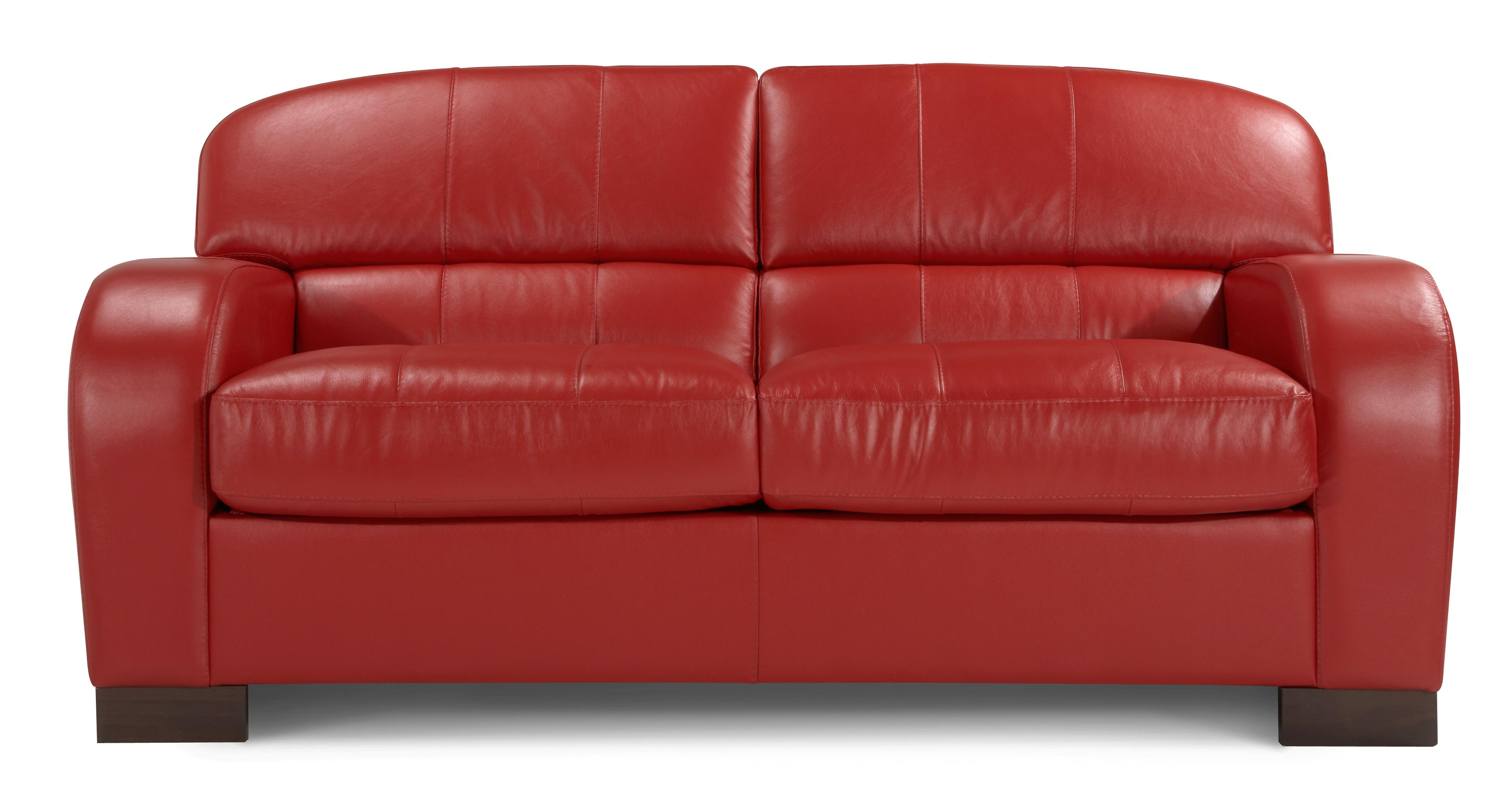 dfs leather sofa bed bobs montibello table new blaze enzo red 2 seater ebay