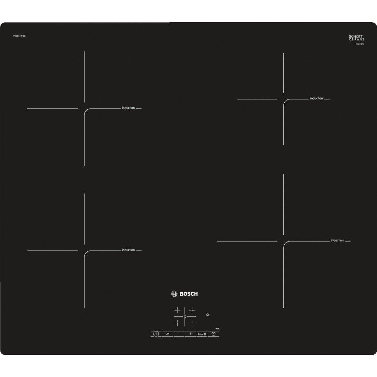 hight resolution of bosch pue611bf1b 60cm induction hob black