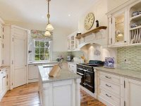 French provincial u-shaped kitchen design using ...