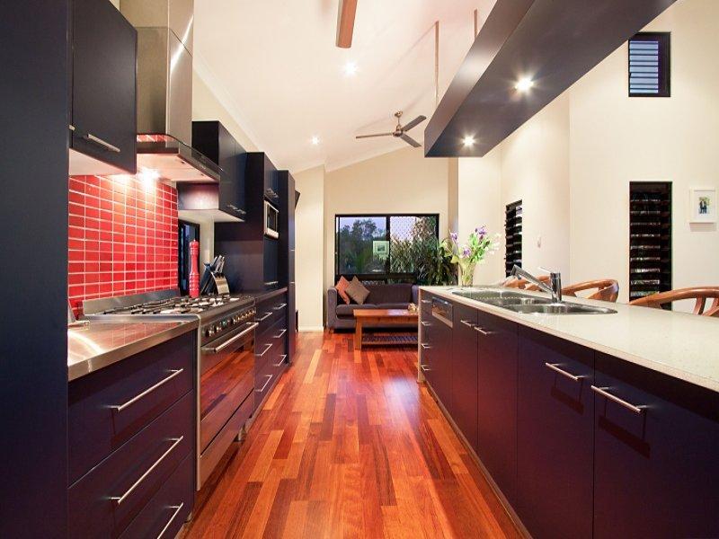 Galley Kitchen Design Using Hardwood Kitchen Photo 158504