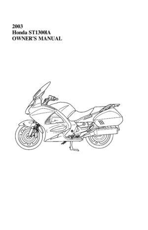 Honda st1300 repair manual