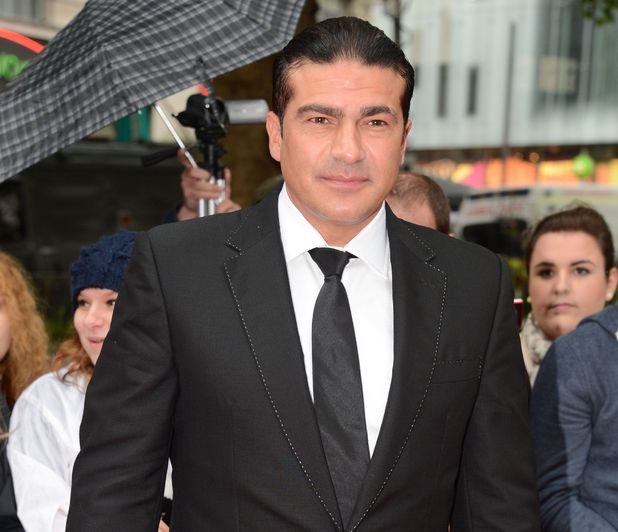 Tamer Hassan at the UK premiere of 'The Dark Knight Rises'