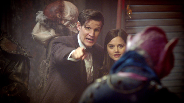 The Doctor (Matt Smith) & Clara (Jenna-Louise Coleman) in Doctor Who S07E02: 'The Rings of Akhaten'