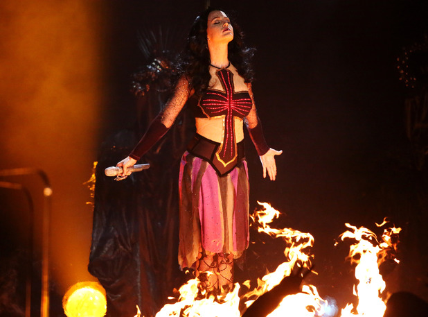 Katy Perry performs 'Dark Horse' at the Grammy Awards 2014